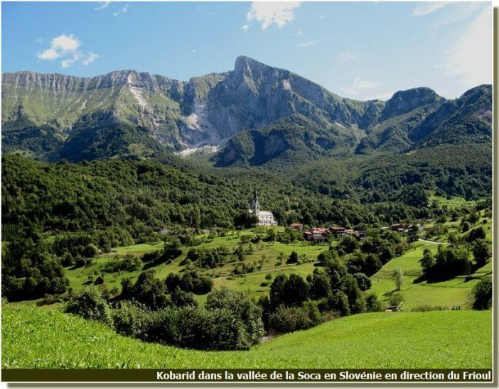 Kobarid en Slovénie dans la vallée de la Soca