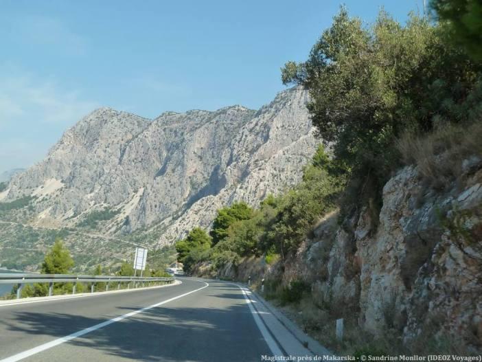 Magistrale entre mer et montagne entre Makarska et Brela