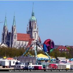 Munich église saint paul pendant Fruhlingsfest