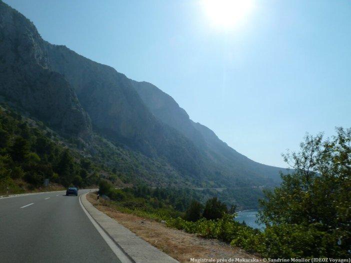 Route magistrale entre Split et Makarska