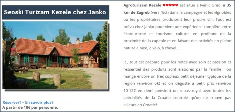 Agrotourisme Kalpic près de Krka