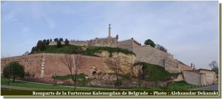 Belgrade Remparts forteresse-Kalemegdan