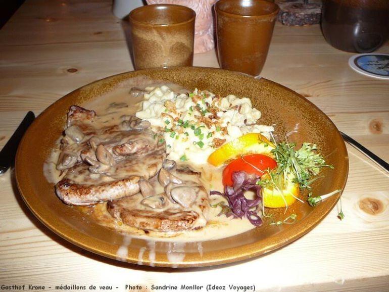 Gasthof Krone Füssen Veau aux champignons et aux spatzle