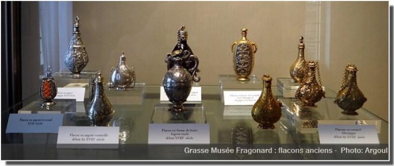 Grasse Musée Fragonard flacons anciens