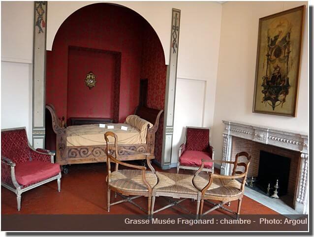 Grasse musée Fragonard chambre