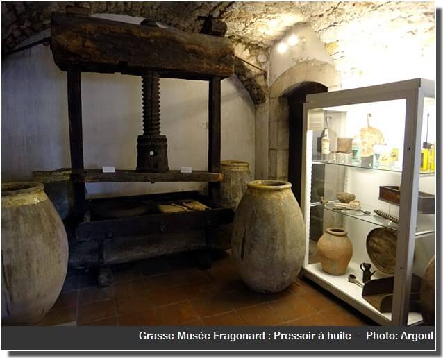Grasse musee Fragonard pressoir a huile