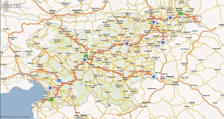 routes soumises à la vignette d'autoroute en slovénie