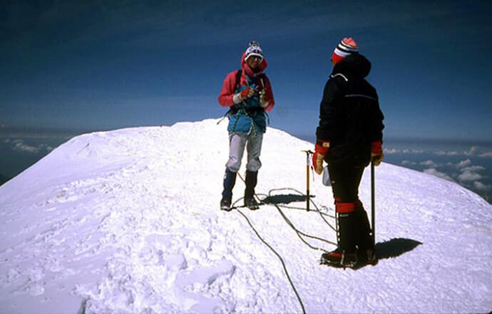Au sommet du Mont Blanc