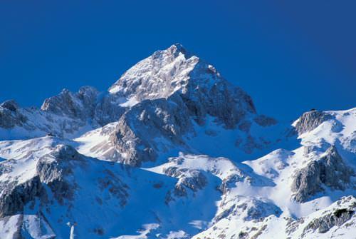 Mont Triglav dans les Alpes juliennes en Slovénie