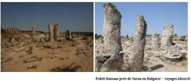 Pobiti Kamani pierres plantées en Bulgarie près de Varna