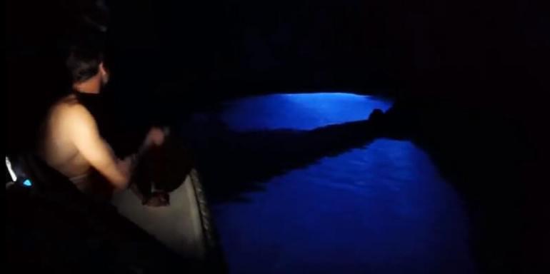 exploration grotte bleue de croatie
