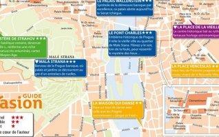 guide evasion prague carte touristique