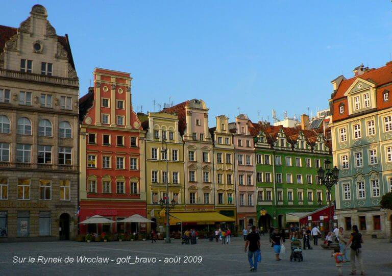 Pologne Wroclaw rynek place centrale