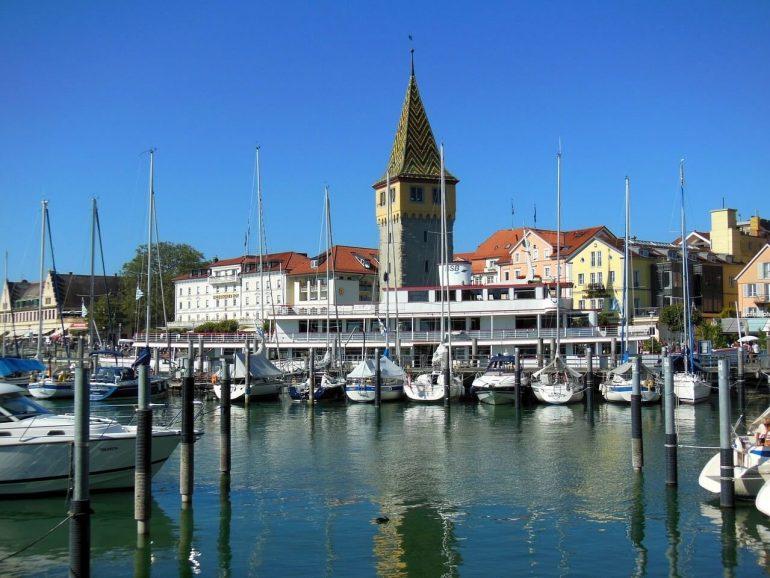 Lindau port sur le Bodensee