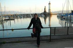 Sandrine Monllor sur le port de Lindau