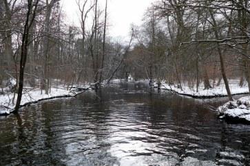 Nymphenburg riviere en hiver à Munich