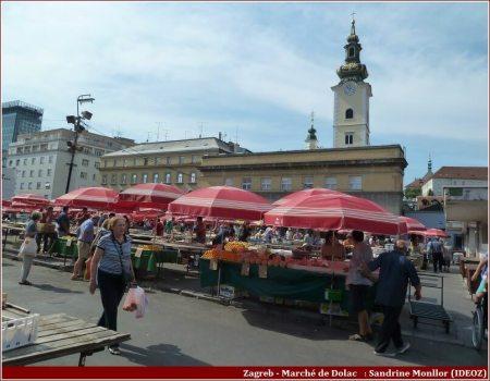 Zagreb Marché en plein air de Dolac