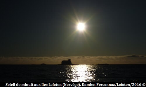 Iles Lofoten soleil de minuit