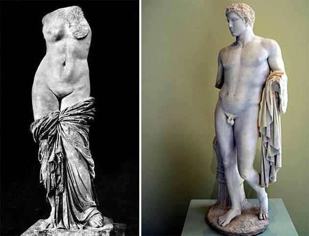 naples musée archeologique aphrodite sinuessa et le jeune homme