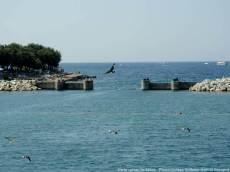 Plage de béton en Istrie