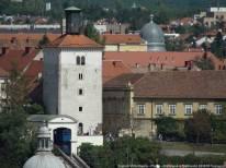 Zagreb Uspinjaca Lotrscak funiculaire ville haute