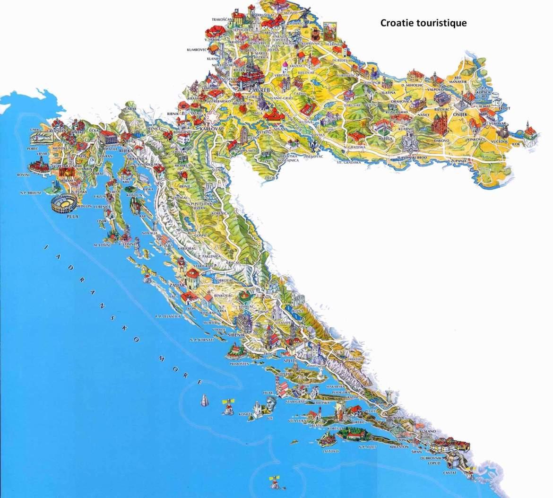 carte Croatie touristique