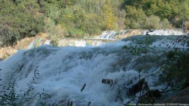 Rouleaux de la rivière Krka
