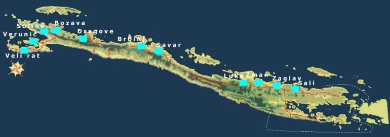 carte Ile Dugi Otok