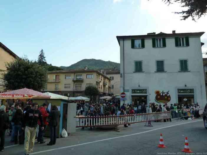 Entrée de la sagra delle Castagne à Marradi