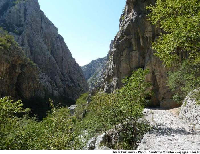 Paklenica sentier de randonnée