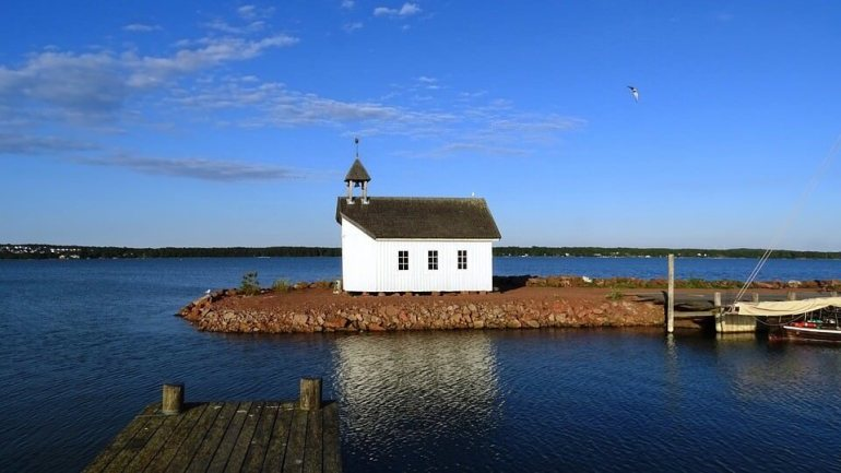 Iles Aland Mariehamn sur la Baltique