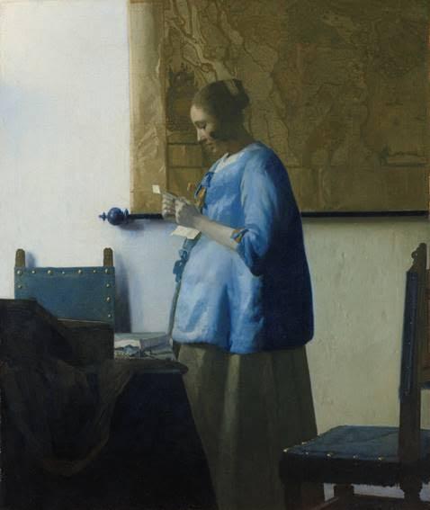 La Femme en bleu lisant une lettre Vermeer