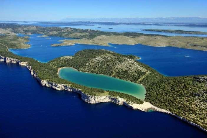 lacs de Telascica en Dalmatie du nord