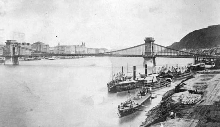 Le pont des Chaines en 1865