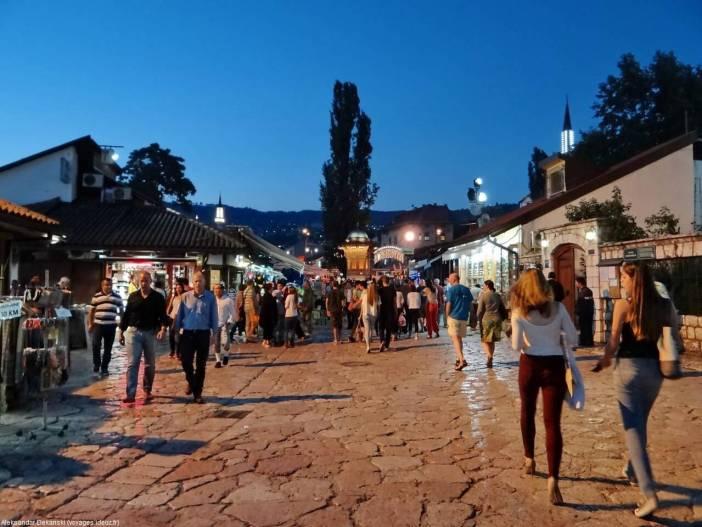 Sarajevo dans les rues de Baščaršija