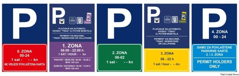 zones de parking à Dubrovnik