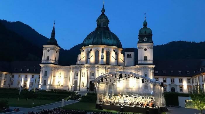 Abbaye d'Ettal lors du Richard Strauss Festival