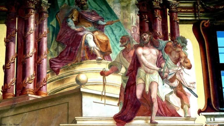 Lüftlmalerei peintures murales religieuses à Oberammergau