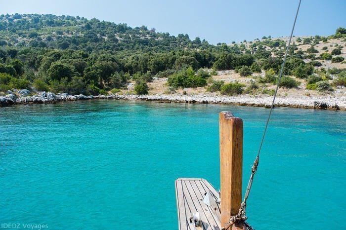 Kornati crique de l'ile de Zut