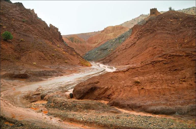 Fort en ruine dans l'Atlas marocain
