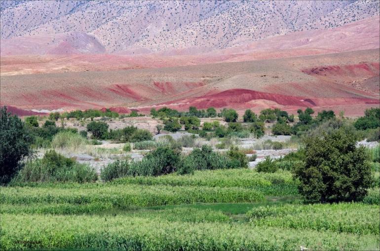 Paysages de l'Atlas marocain vallée de Dades