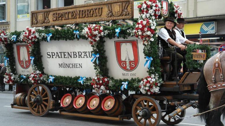 Spatenbrau München défilé d'oktoberfest