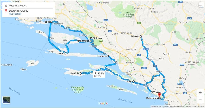 Itinéraire en dalmatie du sud et centrale (1)