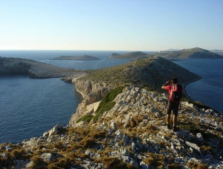 Point de vue sur les iles Kornati trek