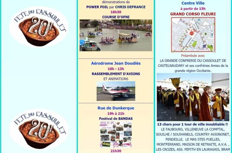 Fête du cassoulet de Castelnaudary ; 4 jours de folie du 22 au 25 Août 2019 34