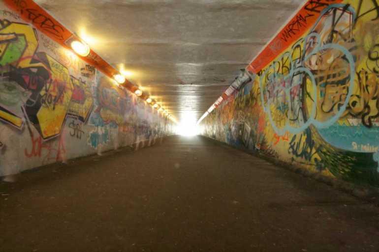 passage souterrain de kupsala street art riga