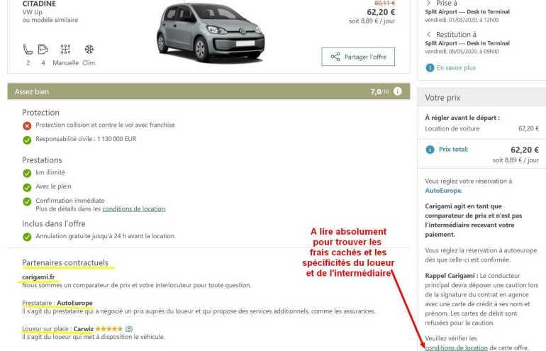 carigami comparateur de location de voiture