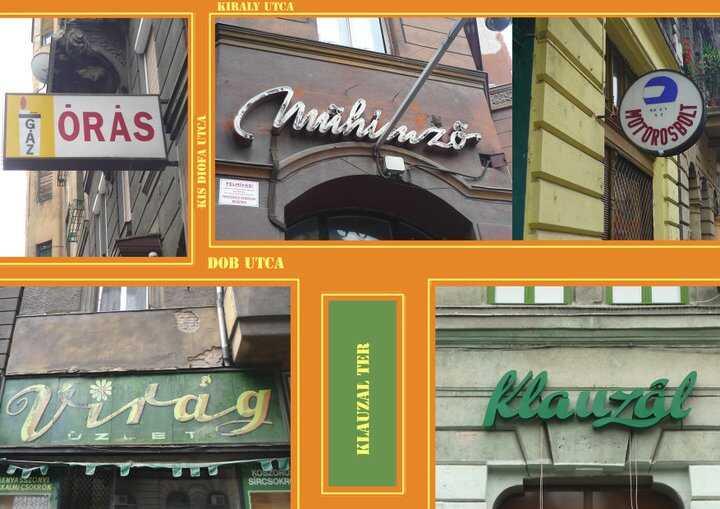 enseignes publicitaires des années 60 70 et 80 à budapest