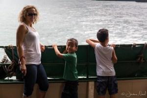 Dans le ferry