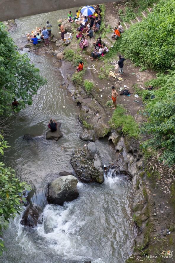Ubud - baignade rivière Wos